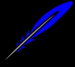 298x264 Blue Feather Clip Art