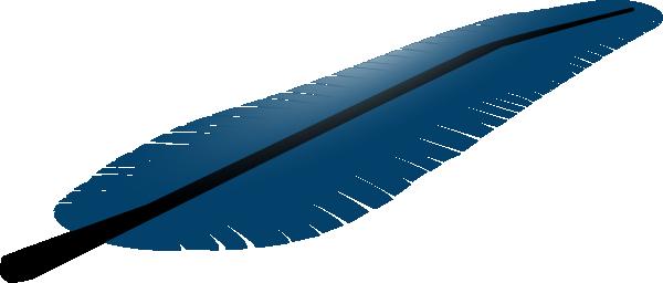 600x256 Blue Feather Clip Art Free Vector 4vector