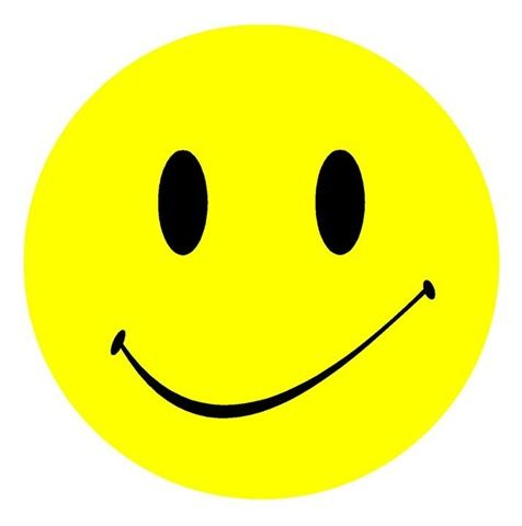 476x480 Yellow And Black Smiley Face With Slight Smirk Clip Art. Smiley