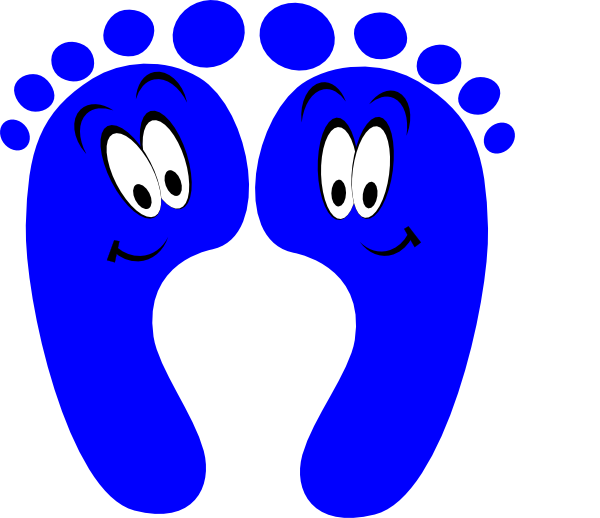 600x518 Happy Feet Clipart Blue Happy Feet Clip Art