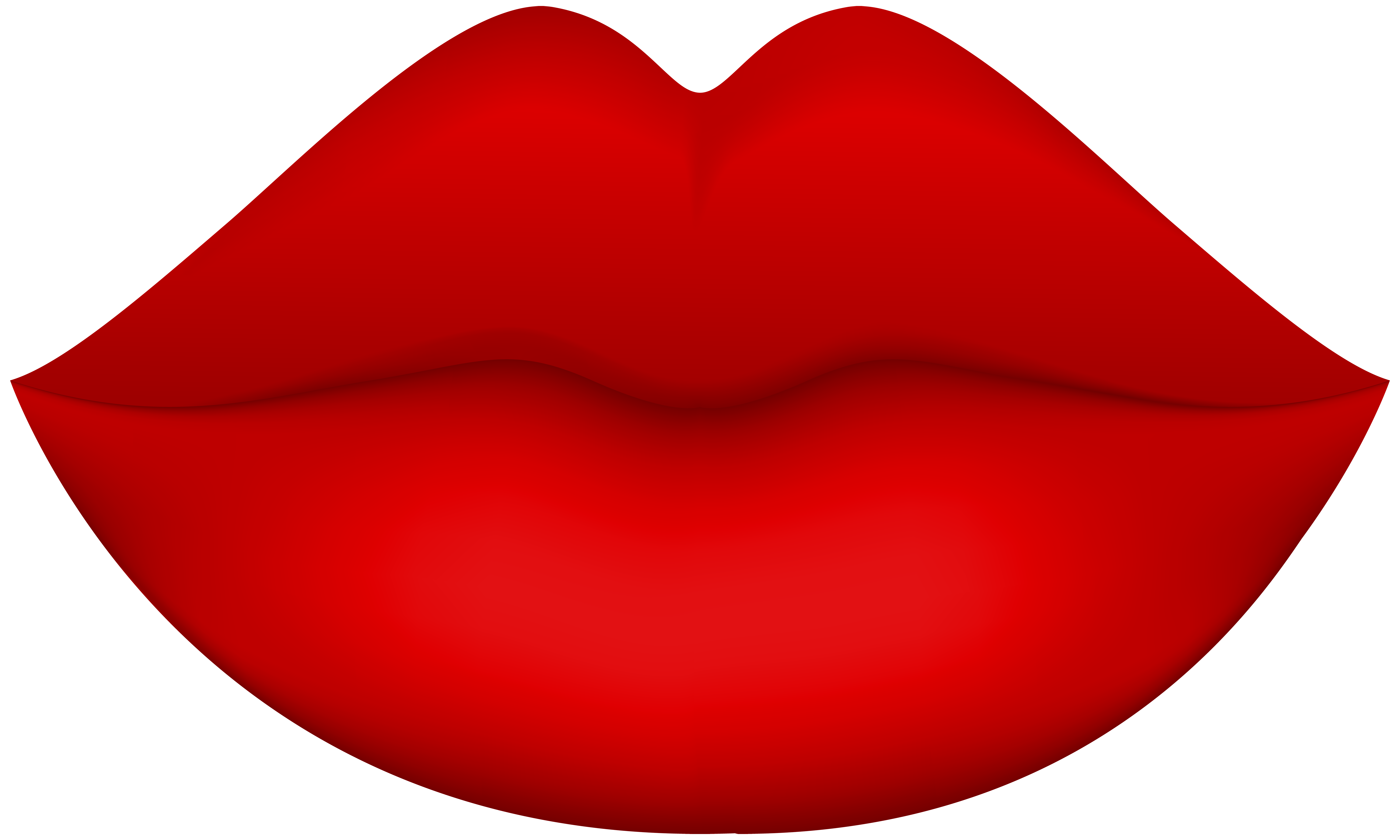 8000x4802 Female Red Lips Png Clip Art