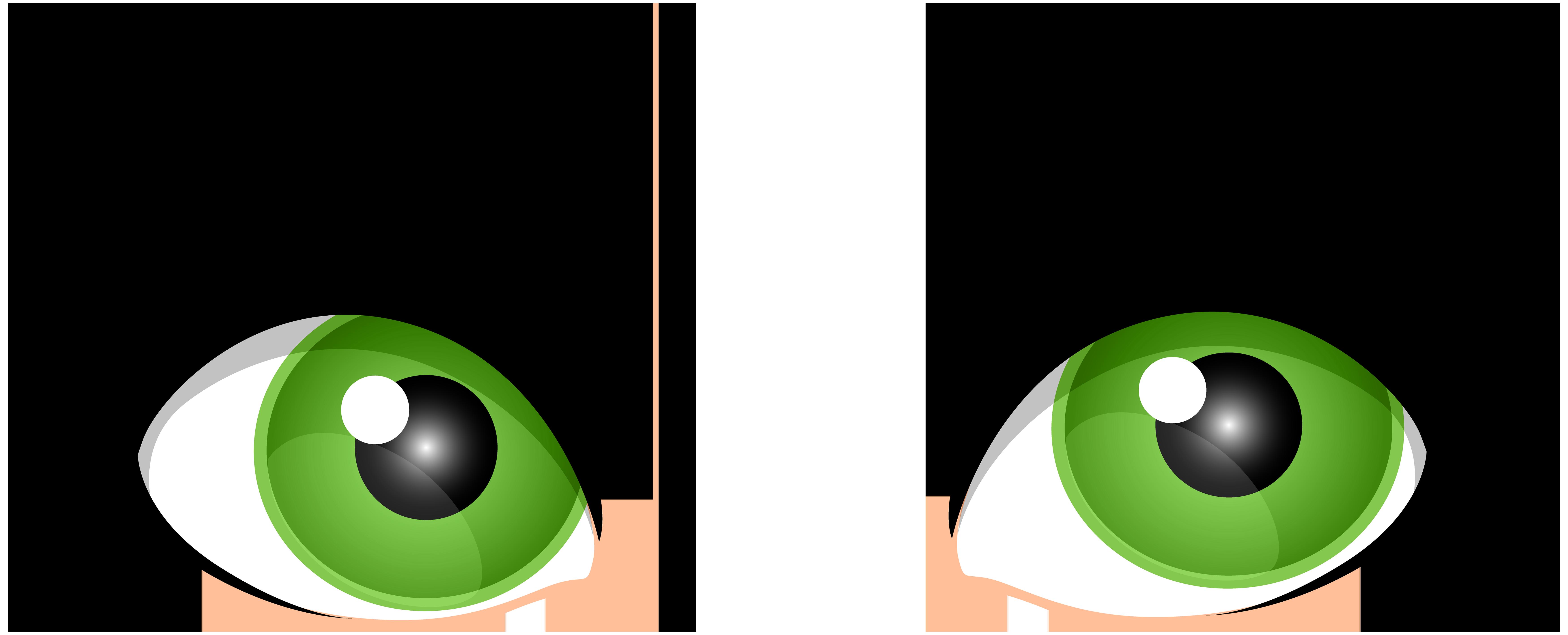 7000x2837 Green Female Eyes Png Clip Art