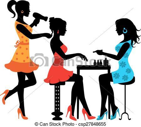 450x405 Clip Art Salon Woman In A Beauty Salon With A Manicurist