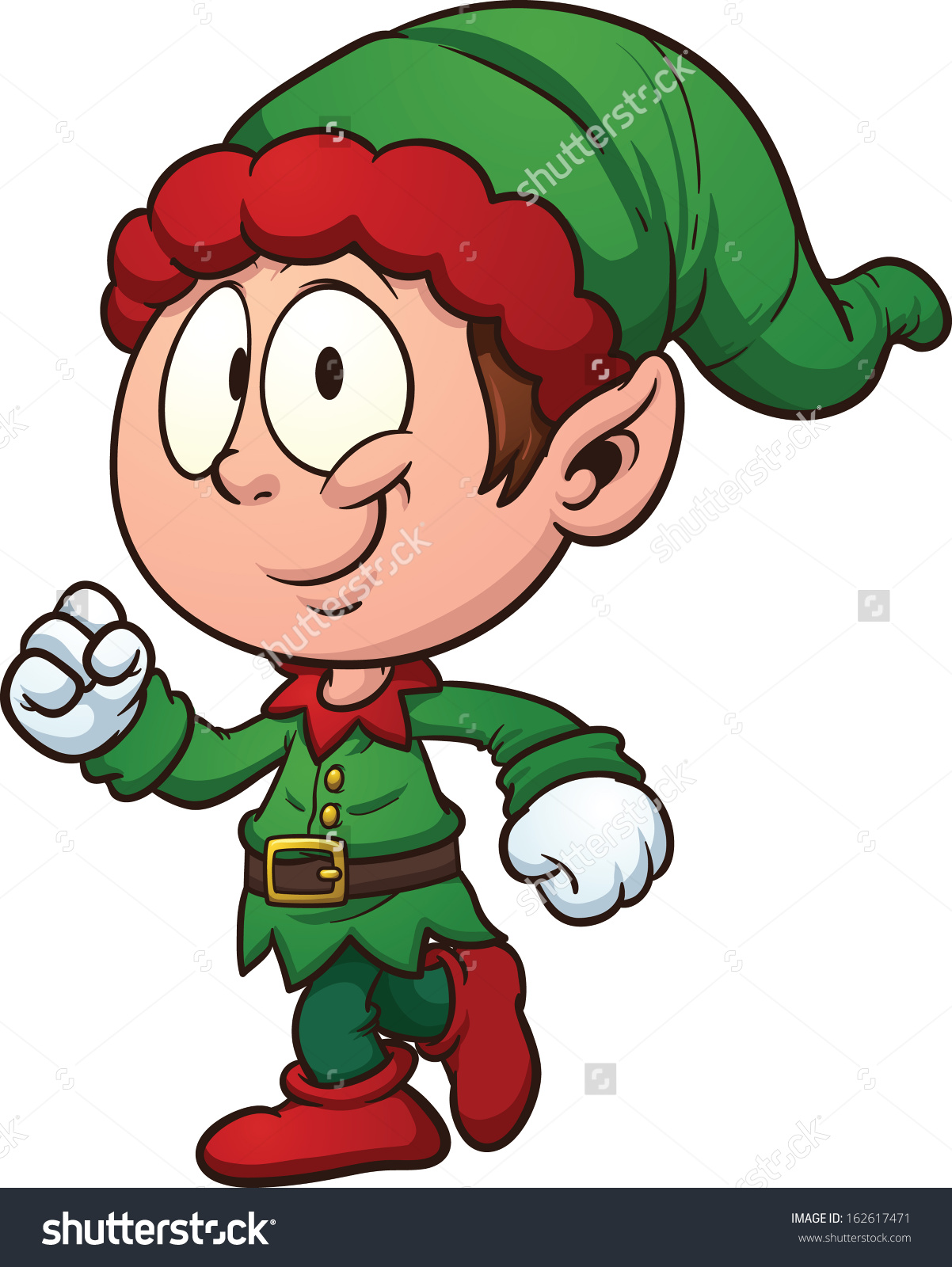 1202x1600 Excited Elf Clipart