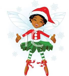 274x300 African American Girl Elf Clipart
