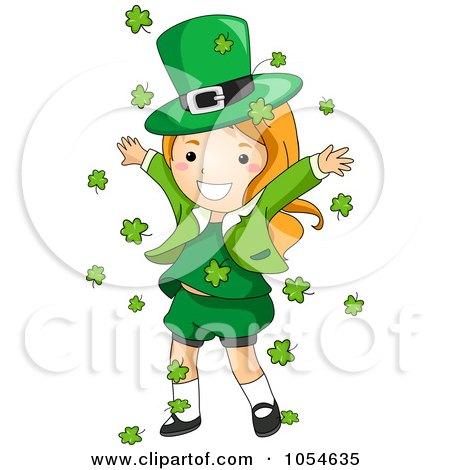 450x470 Clipart Female St Patricks Day Leprechaun Sitting On A Fence