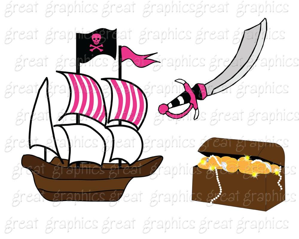 1000x800 Pirate Clip Art Graphics Pirates Clipart Scrapbook Ship Boat