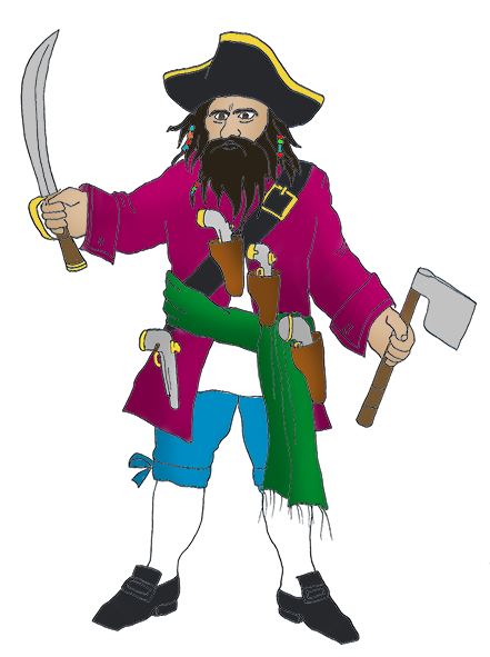 441x591 Pirate Clip Art