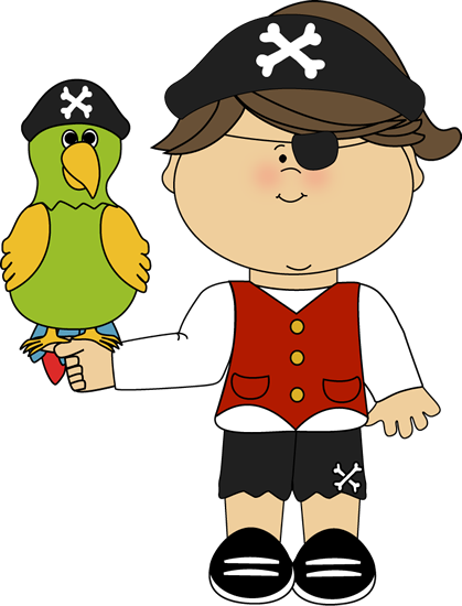 419x550 Pirate Girl With Parrot. Pirate Clip Art Girls