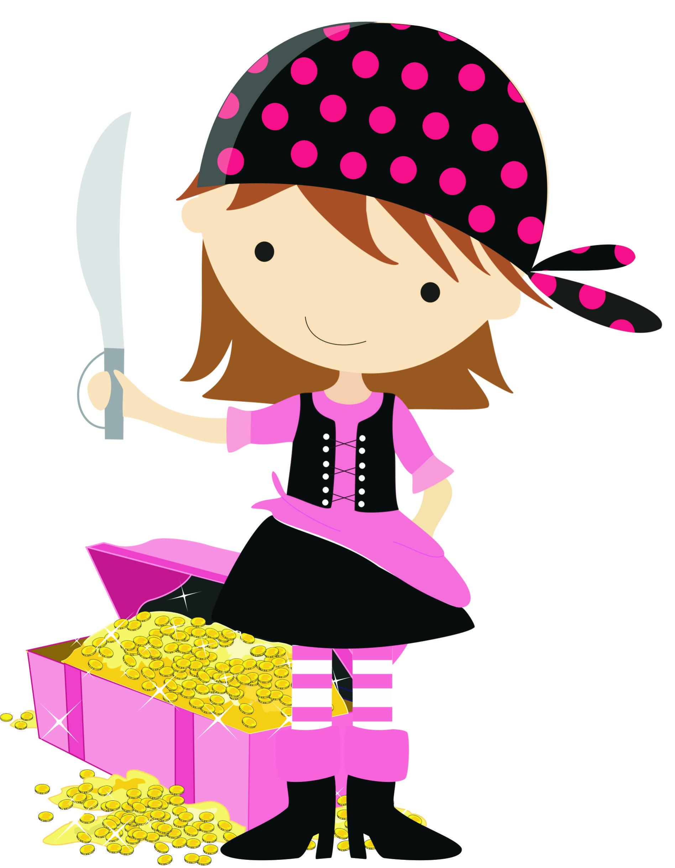 1896x2439 Female Pirate Amp Treasure Chest Manualidades Clip