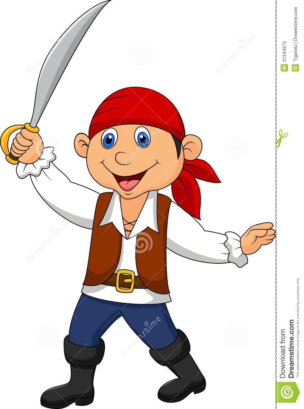 967x1300 Cute Pirate Clipart