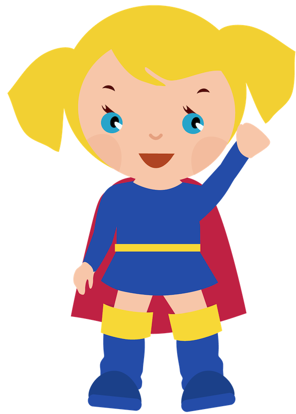600x840 Female Superhero Clipart Clipart Clipartcow Supergirl Party