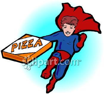 350x315 A Superhero Carrying A Pizza Box