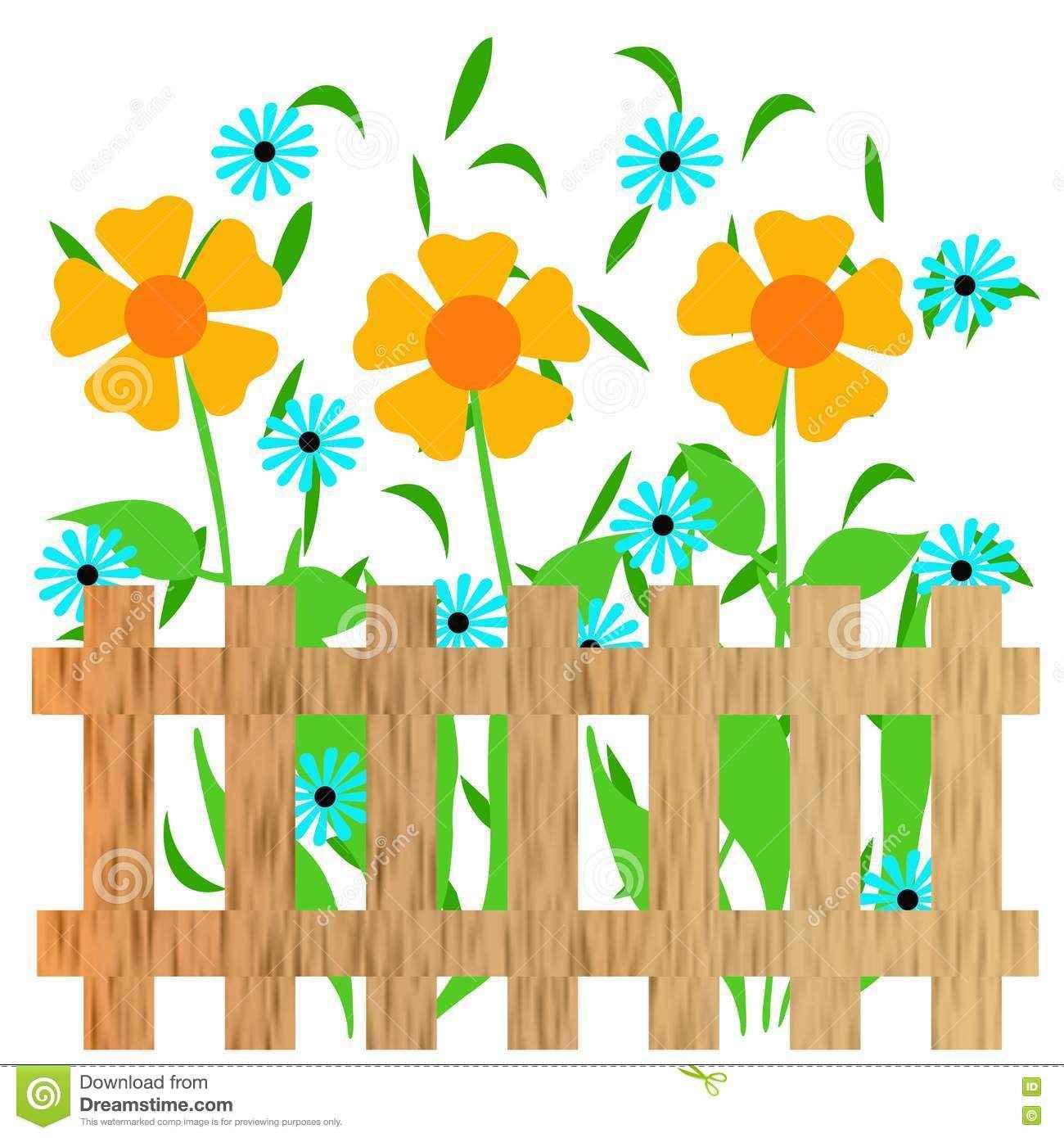 1300x1390 Fence Flower Garden Clip Art, Flowers Garden Clipart