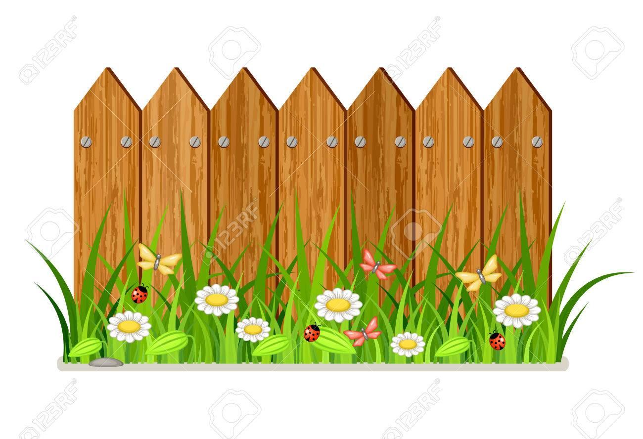 1300x888 Sweet Idea Fence Clipart 10 860 Garden Cliparts Stock Vector