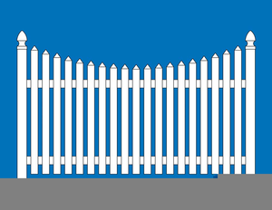300x232 White Picket Fence Clipart Free Images