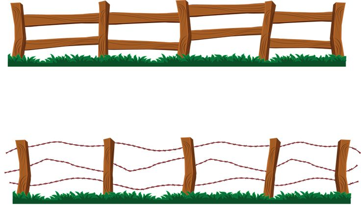 736x434 Wooden Fence Clipart