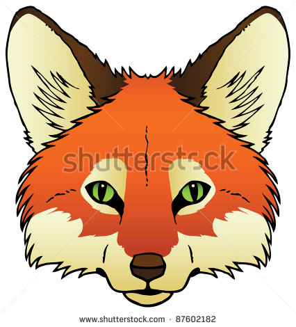 426x470 Red Fox Face Clipart