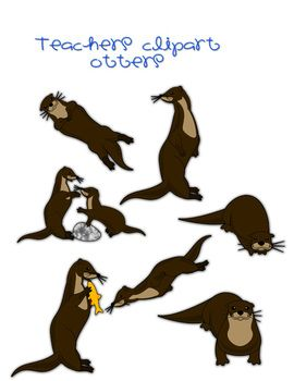 270x350 Otter Clipart Otters, Teaching Ideas And Teacher Pay Teachers