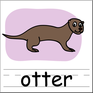 304x304 Clip Art Basic Words Otter Color Labeled I Abcteach