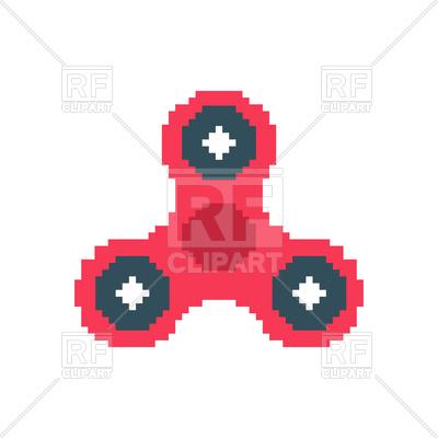 400x400 Spinner Pixel Art. Fidget Finger Toy Pixelated. Royalty Free