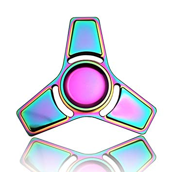 350x355 3 5 Mins Hand Fidget Spinner Stress Relief Toy, Colourful Aluminum