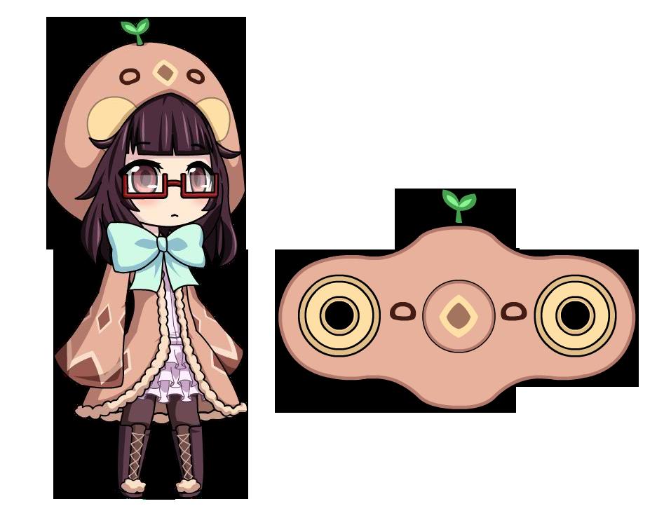 947x742 Temachii [Anime Fidget Spinner] By Lunimegames