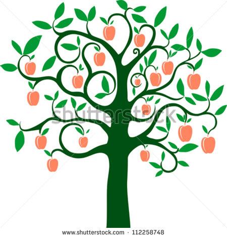 450x470 Fig Clipart Peach Tree