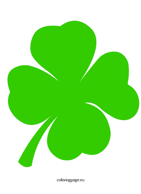 591x808 Four Leaf Clover Clip Art Loring Page