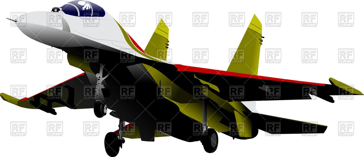 1200x517 Landing Jet Fighter Extends Landing Gear Royalty Free Vector Clip
