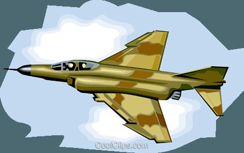 480x302 U.s. Fighter Jet, Phantom 2 Royalty Free Vector Clip Art