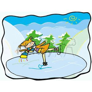 300x300 Ice Skating Pond Clipart