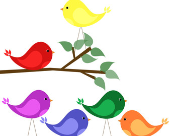 340x270 Red Headed Finch Clipart Whimsical Bird