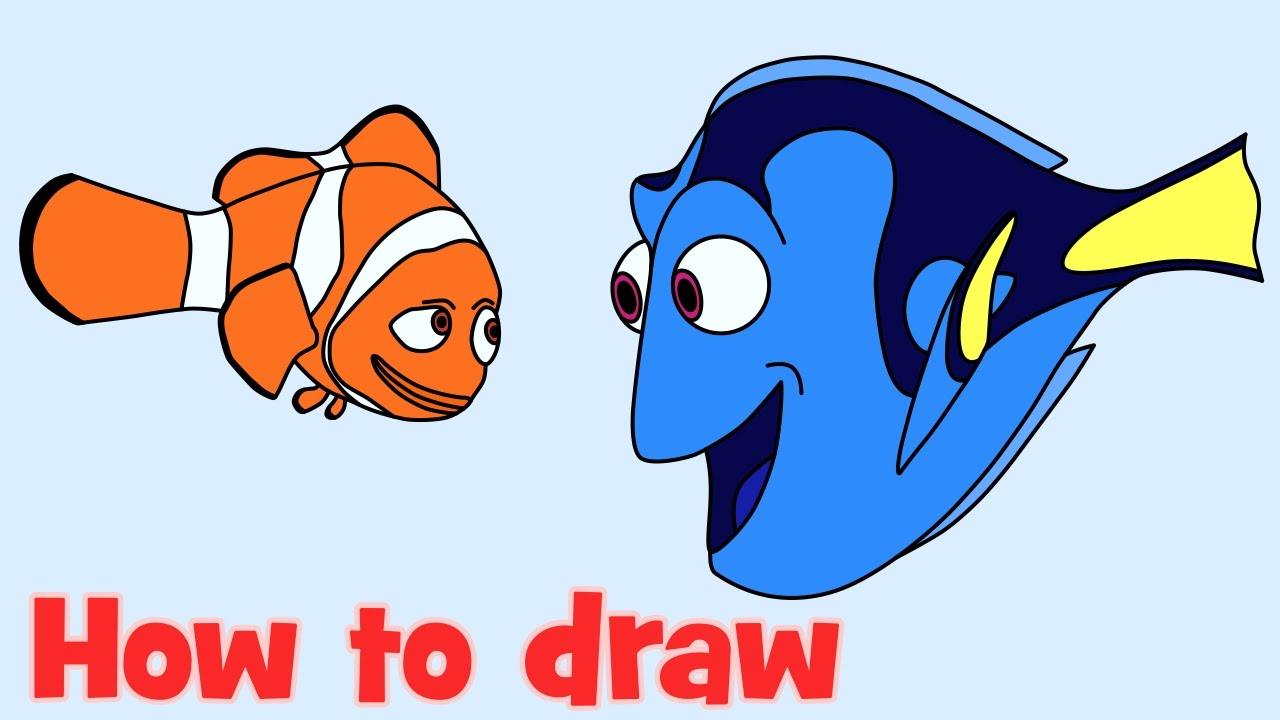 1280x720 How To Draw And Coloring Dory With Nemo From Finding Dory