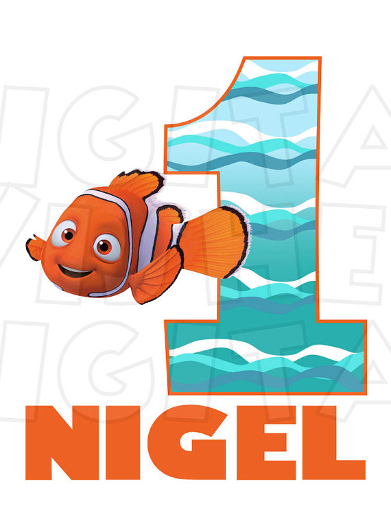 570x760 Finding Nemo Birthday Image Personalized Name Any Age Digital