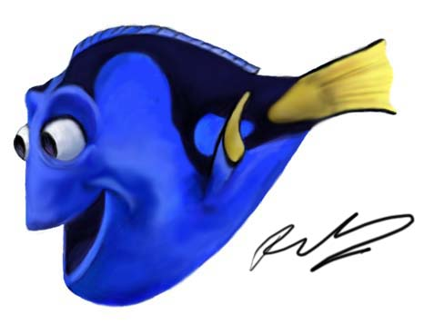 466x357 Dory From Finding Nemo By Samhain Snake
