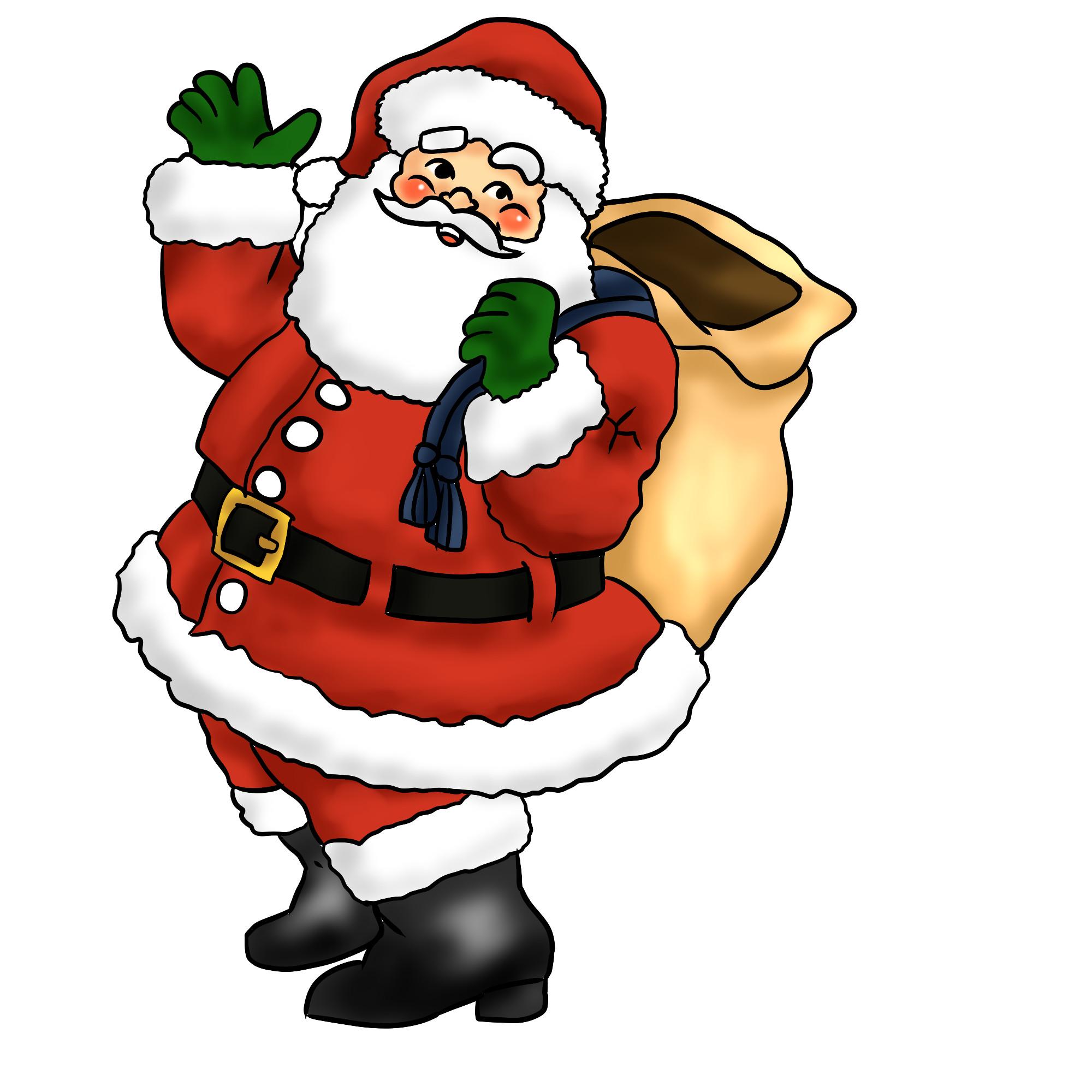 2000x2000 Free Santa Claus Art Download Clip On Fine Clipart Transitionsfv