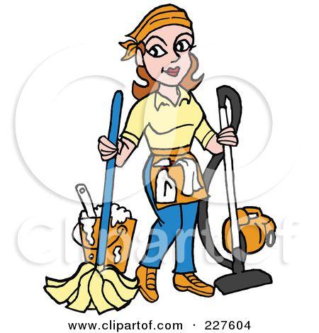 450x470 School Janitor Clip Art Royalty Free (Rf) Clipart Illustration