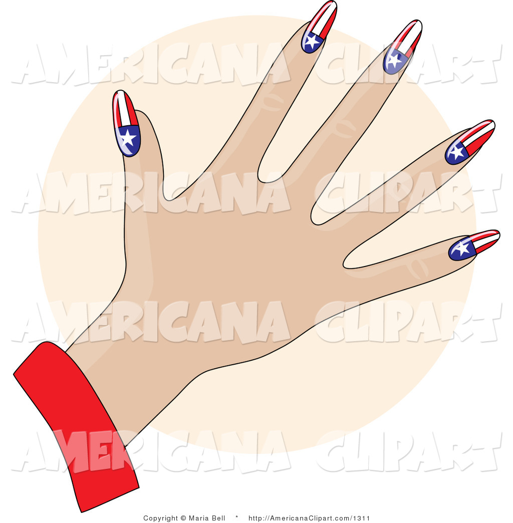 1024x1044 Americana Vector Clip Art Of A Patriotic Woman39s Hand With Acrylic