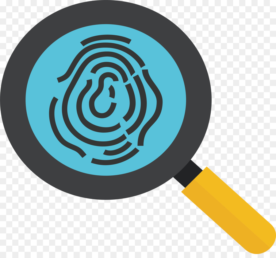 900x840 Fingerprint Magnifying Glass Icon