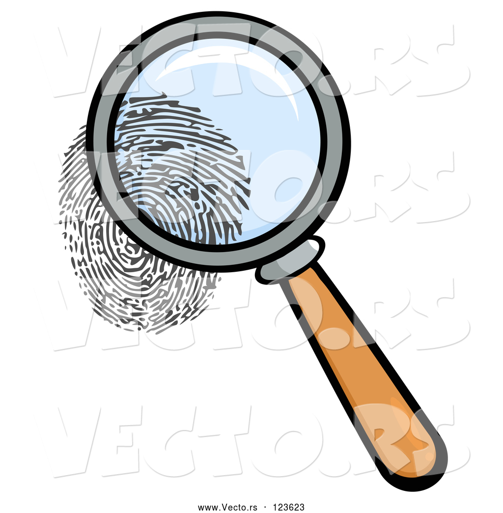 1024x1044 Vector Of Cartoon Magnifying Glass Zooming In On A Fingerprint By