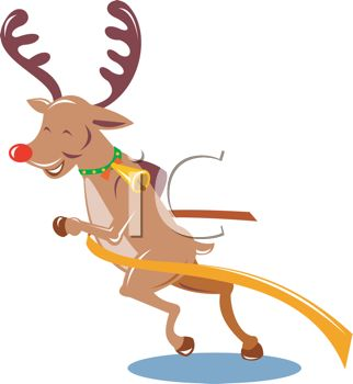 322x350 Picture Of A Reindeer Smiling And Pushing His Way Through A Finish