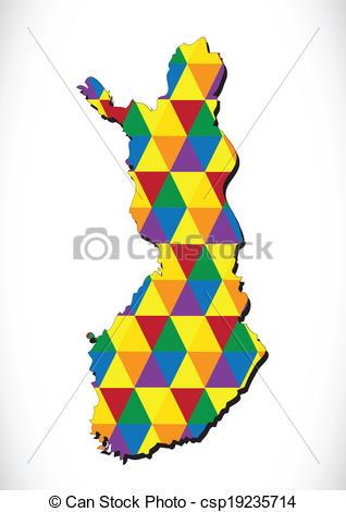 318x470 Finland Map And Flag Idea Design Vector Clip Art