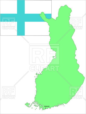 303x400 Flag And Map Of Finland Royalty Free Vector Clip Art Image