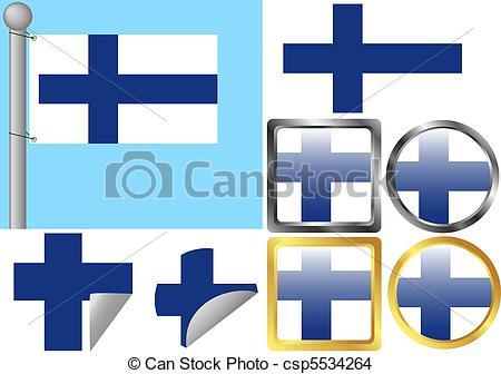 450x336 Flag Set Finland Eps Vector