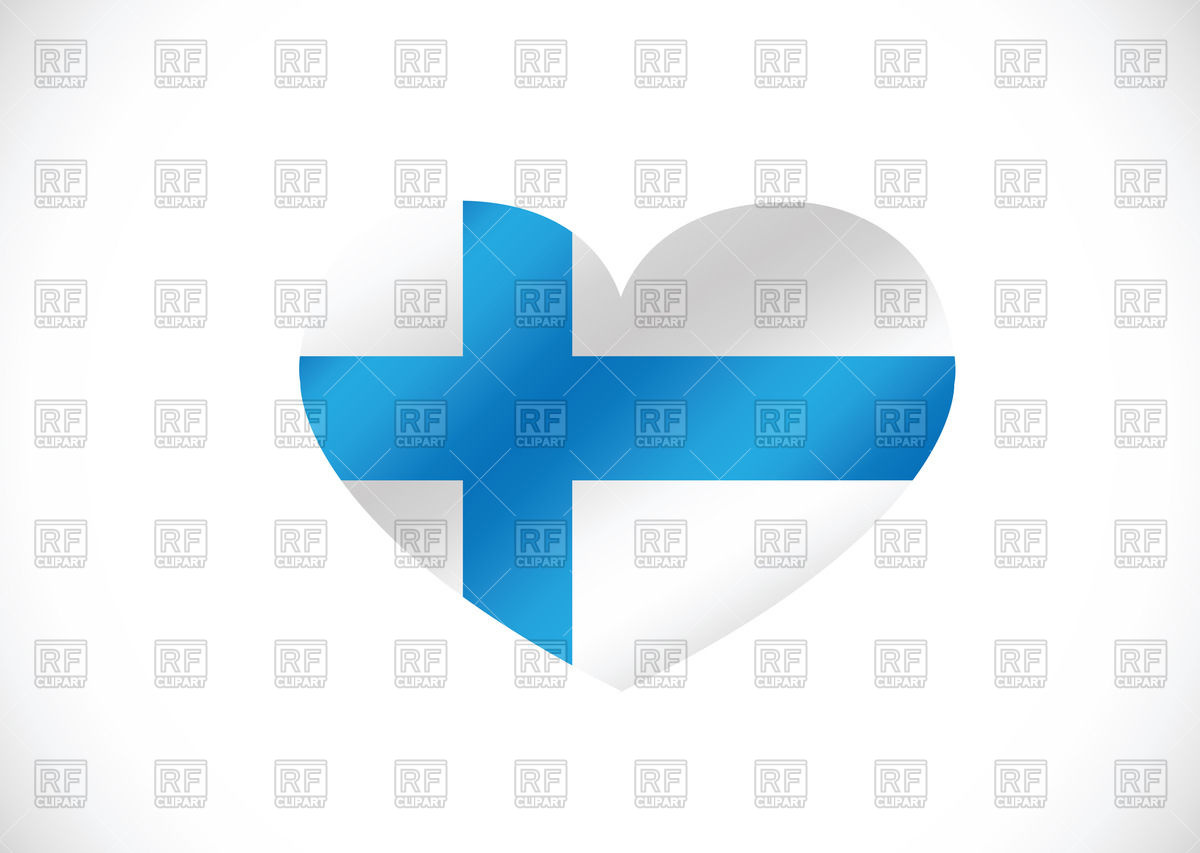 1200x853 Heart Shaped Finland Flag Royalty Free Vector Clip Art Image