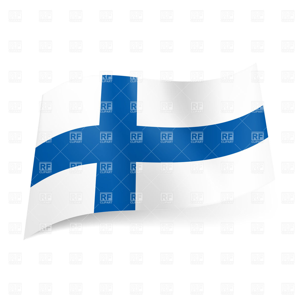 1200x1200 National Flag Of Finland Royalty Free Vector Clip Art Image