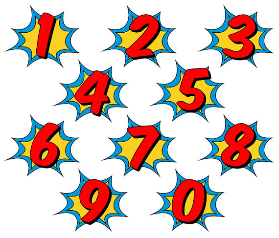 570x487 Superhero Clipart Comic Book Clip Art Comic Book Numbers