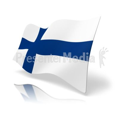 400x400 This Clip Art Image Shows The Finland Flag