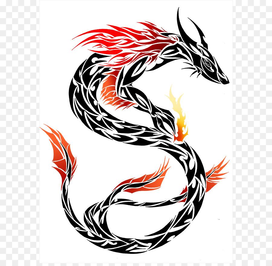 900x880 Chinese Dragon Tribe Tattoo Clip Art